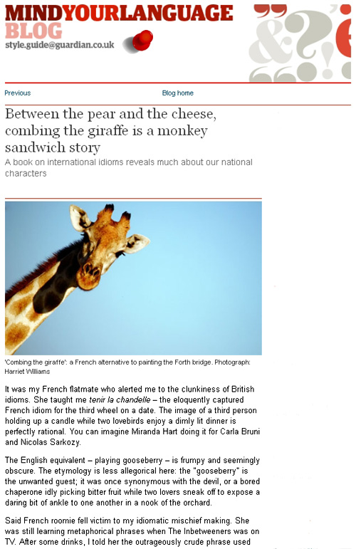 Idiomantics in the Guardian