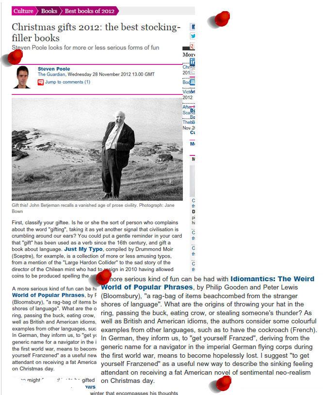 Idiomatics in the Guardian
